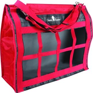 Red Plaid Top Load Hay Bag