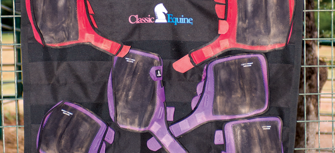 The Hanging Wash Rack by Classic Equine is a great tool to clean your boots.
